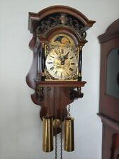 Dutch WUBA Warmink Sallander ZAANDAM Wall Pendulum Clock with Moonphase