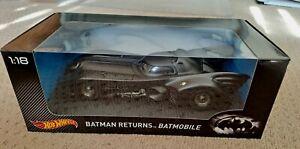 1:18 Hot Wheels 1989 / 1992 Batman Returns Batmobile Keaton / Burton
