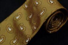 Hugo Boss Men's Tie Olive Green & Pearl Paisley Woven Silk Necktie