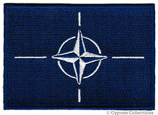 NATO FLAG embroidered iron-on PATCH MILITARY EMBLEM NORTH ATLANTIC TREATY logo