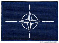 NATO FLAG embroidered iron-on PATCH MILITARY EMBLEM NORTH ATLANTIC TREATY logo