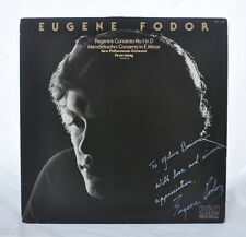 Eugene Fodor signed LP autograph RCA Red Seal Violin Paganini Mendelson Stereo !
