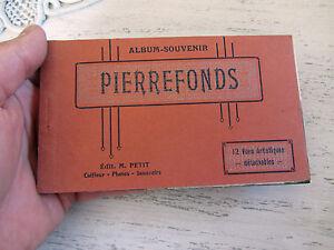ANCIEN CARNET 12 CARTES POSTALES ALBUM SOUVENIR PIERREFONDS