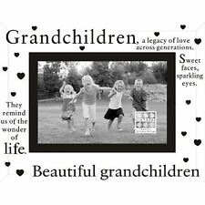 Sixtrees Moments Glass Frame 6 x 4 Grandchildren Landscape Picture Photo Gift