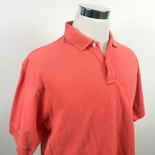 Paul Frederick Mens Luxury Polo Shirt Coral Pink 100% Cotton Casual
