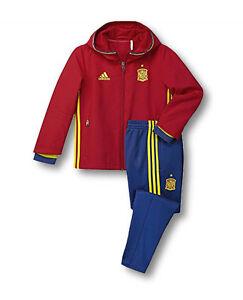 ADIDAS Kinder Trainingsanzug Jogginganzug Hoody Sportanzug rot/blau Gr.92-116