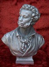 Russian poet Alexander Pushkin USSR Russian Soviet sculpture statue bust H=27 cm