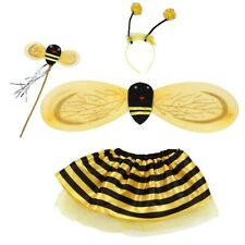 4Pc Bumble Bee Honey Girls Kids Fairy Halloween Fancy Dress Up Party Costume SGH