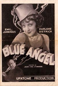 Blue Angel Original Movie Herald from the 1930 Movie