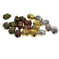 20 Stück Sortierte 3D Buddha Spacer Beads Blume Schmuckperlen Kinderperlen
