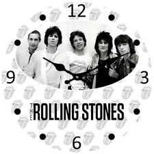 ROLLING STONES ROCK LEGENDS GLASS CLOCK FREE STANDING or WALL MOUNT 17cm