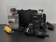 GoPro HERO 4 Silver + Accessories; 4 Batteries; Wifi Remote Camcorder