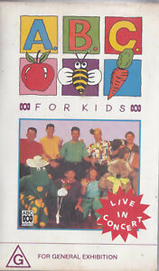 ABC For Kids Live In Concert 1992 [Wiggles]  VIDEO VHS Pal    SirH70