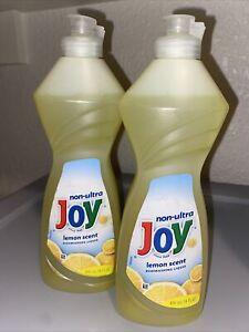 Joy Lemon Scent Dishwashing Liquid 14 fl oz Original Lot Of 2