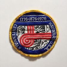 Vintage Patch Centennial Hayward USA 1776 1876 1976 Red Blue White Black