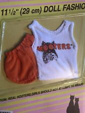 Hooters Girl Barbie Doll Outfit ~ Tank Top Shorts ~ Waitress Uniform ~ New! RARE