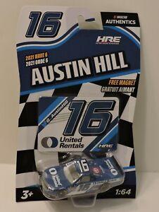 2021 AUSTIN HILL #16 UNITED RENTALS NASCAR AUTHENTICS 1:64 W/TEAM MAGNET