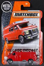 2017 Matchbox #87 '95 Custom Chevy® (G30) Van RED/SPARE TIRE VERSION/MOC