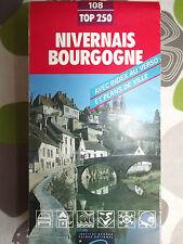 CARTE IGN  serie rouge 108 nivernais bourgogne 1994