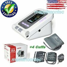 【USA Shipping】CONTEC08A Digital automatic blood pressure monitor+4 Cuffs