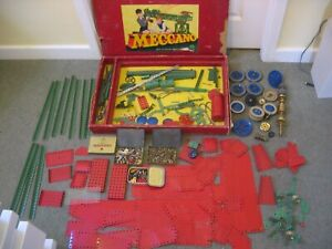 Large Collection Vintage Meccano - Girders Plates Wheels Gears - Job Lot