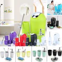 6Pcs Plastic Bathroom Accessory SET Dispenser Toothbrush Cup Holder Cup Lotion