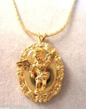 VINTAGE AUBREY CREATION GOLD TONE RELIGIOUS CHERUB ANGEL NECKLACE!!! WGA3261