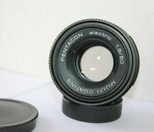 Pentacon Electric  50mm f1.8 Fixed Prime Standard Lens Pentax M42 Screw Mount.
