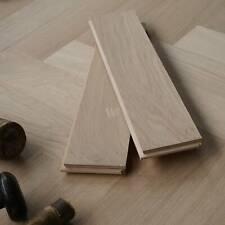 400x90mm Prime Grade Engineered Parquet Flooring / Herringbone / Oak Wood EC9P