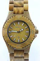 Bewell Holzuhr Damenuhr Herrenuhr 41mm Sandelholz Armbanduhr Dirndl Geschenk