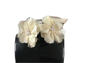 ivory hair accessories Hair Clips Wedding Formal Flowers