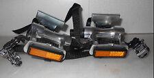 """Vp Components Vp-396 Road Pedals 9/16"""" W/Clips & Straps  & Reflectors"""