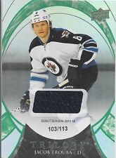 15/16 Trilogy Green Debut Season Jersey Jacob Trouba /113 89 Jets