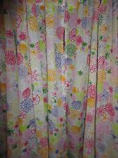 Ikea Renate Flora Orange Burst Yellow Pink Floral (Pair) Tab Panels 58 X 86