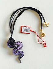 Antica Murrina Santiago-Murano Glass Snake Pendant Necklace