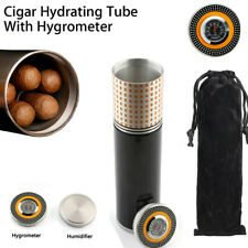 Portable Travel Cigar Humidor Case With Hygrometer Pouch Camping Gifts 4 Count