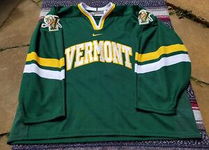 University of Vermont Catamounts Hockey Jersey Size XXL Nike Bauer Green