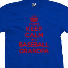 Baseball Grandpa T-Shirt - I Can't Keep Calm I'm a Pa Pops - All Sizes & Colors