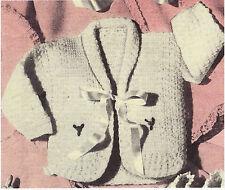 Vintage Crochet Baby Jacket PATTERN   (NOT FINISHED ITEM)
