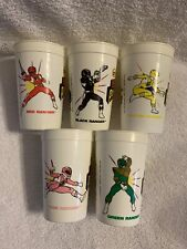 Vintage 1994 Mighty Morphin Power Rangers Plastic Cups - Lot of 5