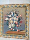 Antique Vintage FLORAL WALL TAPESTRY 41.5 inches long and 36 inches wide NICE!!!