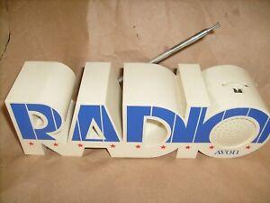"Novelty Transistor AM/FM Radio - AVON PROMO . - Letters "" RADIO"""