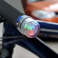 1 Paar Fahrrad Fahrrad Lenker End Plug Cap LED Sicherheit Blinker Licht Lampe