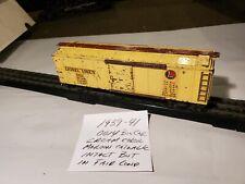 Lionel Pre War 00 Scale, 0014 Cream Color Box Car With Maroon Catwalk  1939/41
