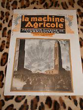 REVUE - LA MACHINE AGRICOLE, janvier 1928