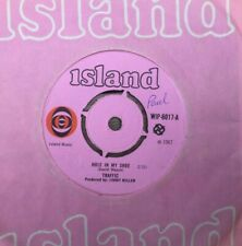 """Traffic, Hole In My Shoe/ Smiling Phases 7"""" vinyl, pink Island label 1967"""