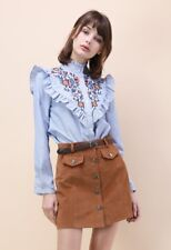 Chic Wish Retro Wildflower Embroidered Shirt Size UK 12-14 rrp £38 DH079 ii 27