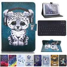 """For Onn 7"""" 10.1"""" inch Android Tablets Keyboard Printed Leather Stand Case Cover"""