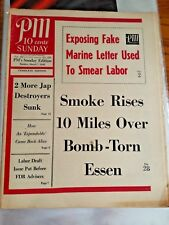 PM Daily Exposing Fake Marine & Smoke Rises 10 Miles Over Sunday Mar 7, 1943 4