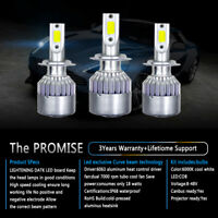 2PCS H8 H9 H11 300W 36000LM COB LED Headlight Bulb 6000K White Lamp